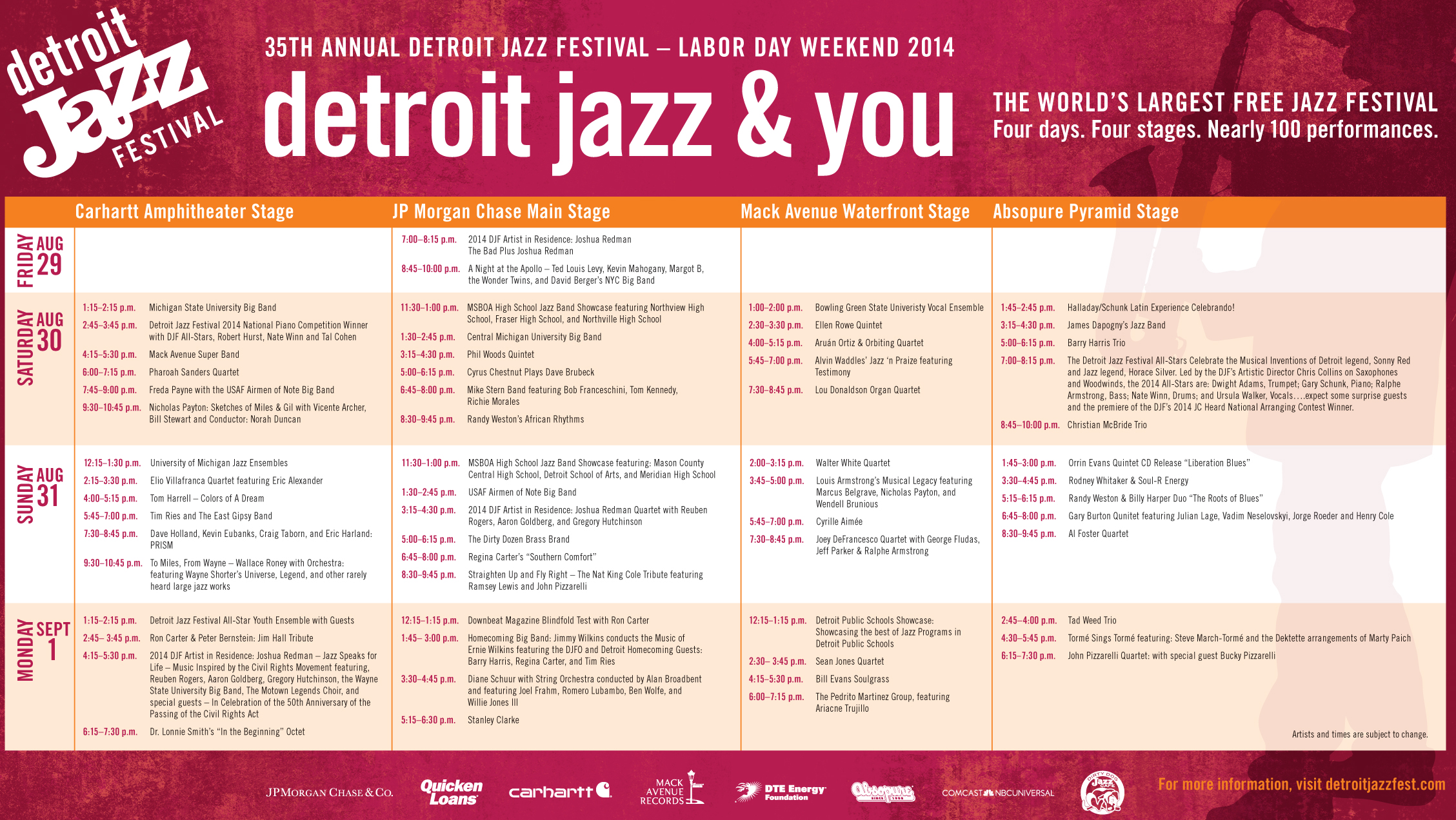 Here S The Complete Detroit Jazz Festival Weekend Schedule 105 9